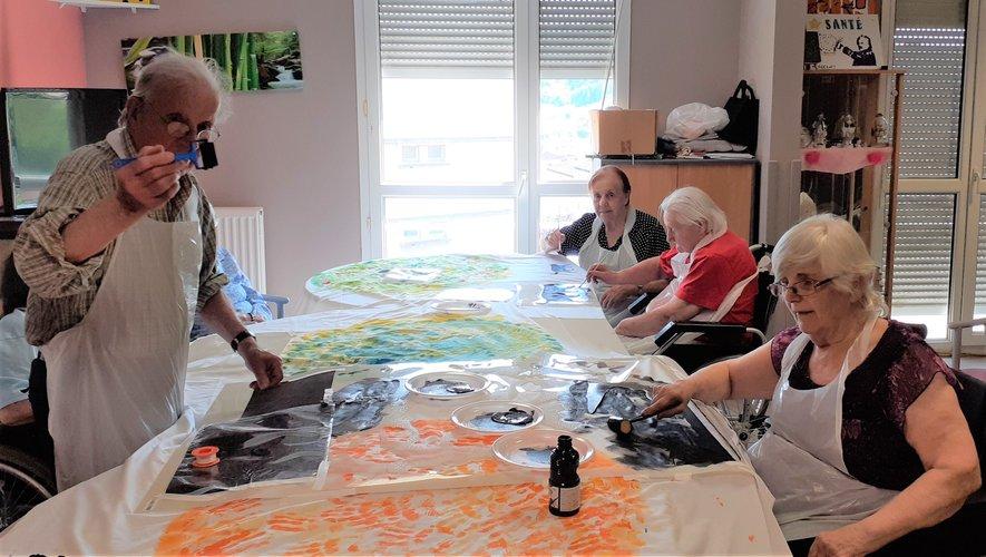 L'atelier au cours duquel les résidents ont conçu et réalisé leur œuvre.