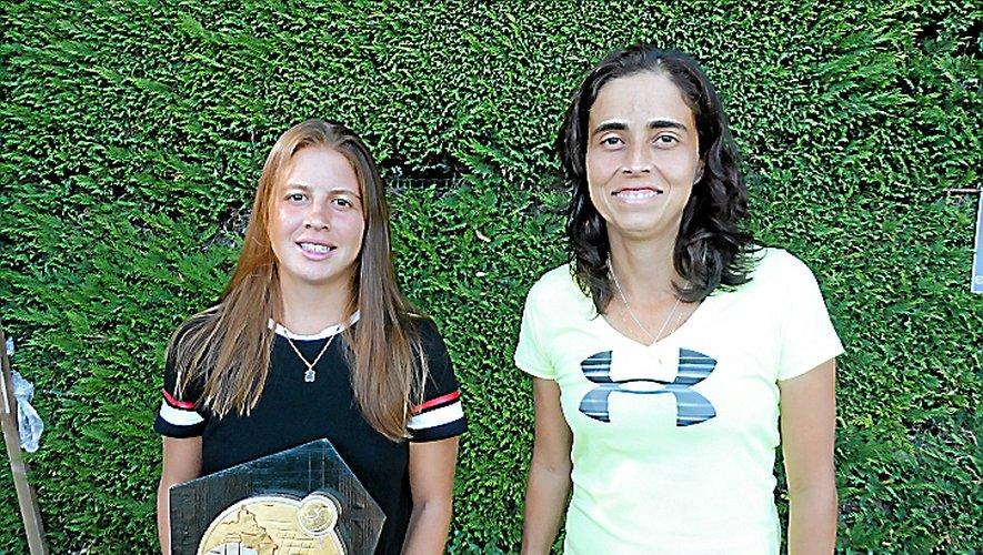 Les finalistes dames Delfina Glorosio et Guimaraes Maecela.