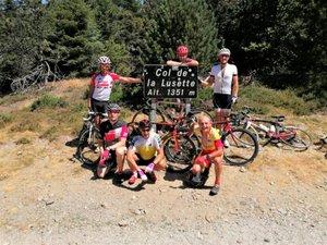 les six champions au sommet de la Lusette.