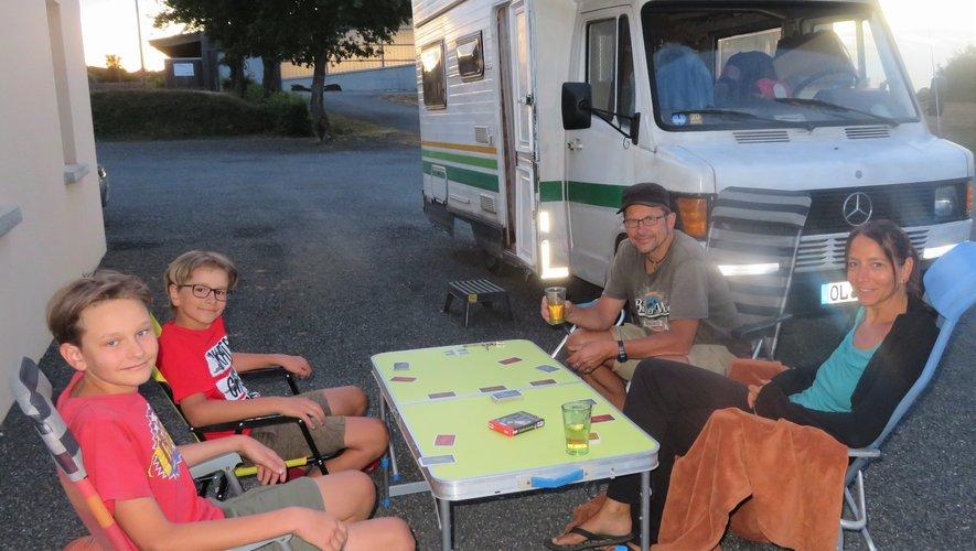 Jorg, Kerstin, Tom et Falk étaient de passage avant de rejoindre le littoral méditerranéen.