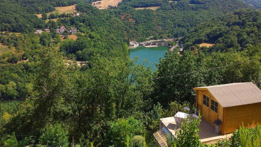 Barrage sur le Tarn, vu de Combradet.