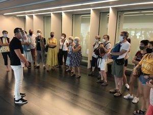 L'obligation de porter le masque  n'impacte en rien la fréquentation du musée.