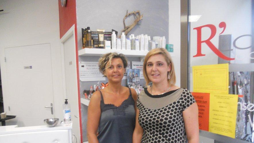 Malvina Mathieu (à droite), nouvelle patronne de R-Look Coiffure