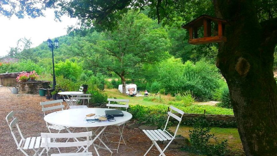 Le point wi-fi du camping.