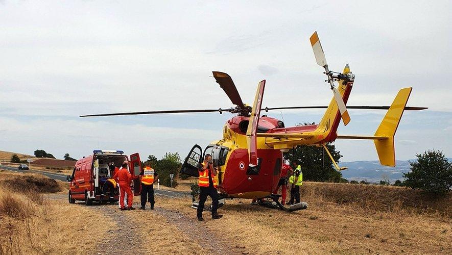 Le Dragon a évacué une victime à l'hôpital Lapeyronie de Montpellier.