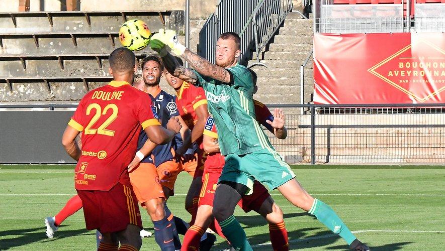 Théo Guivarch a concédé trois buts face à Montpellier.