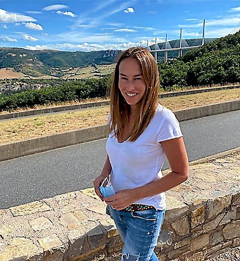 Vanessa Demouy a apprécié le viaduc.
