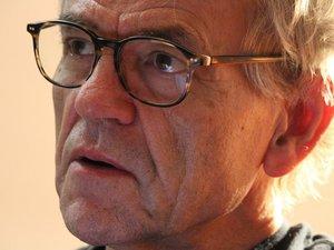 """Le poète conquois originaire du Danemark, Peter Wessel, et le joueur français de serpent, Michel Godard, vous invitent à ce concert-récital pour célébrer le dixième anniversaire du poème """"Conques, la quête"""" présenté lors du festival de 2010."""