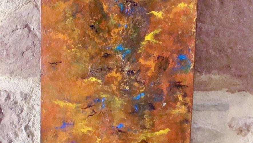 Des artistes du Club de peinture.
