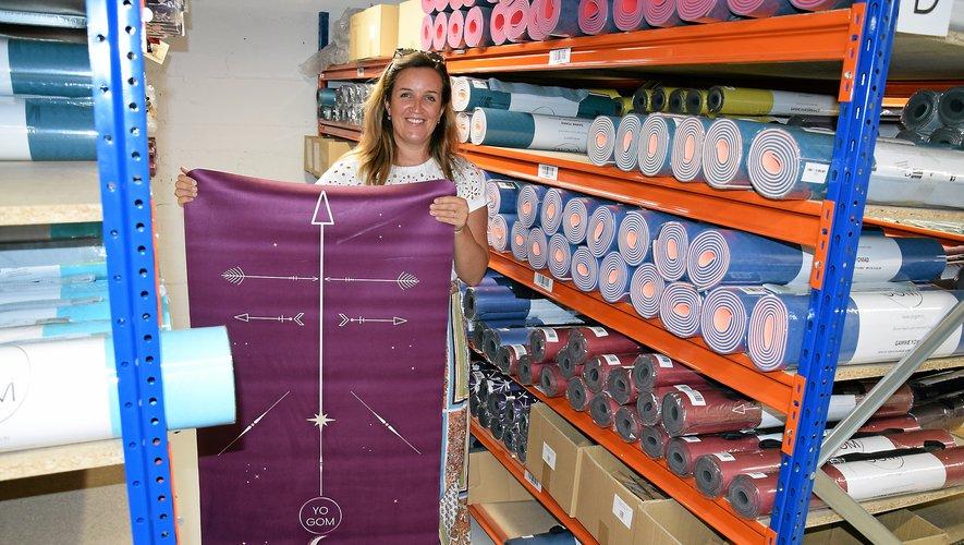 Installée à Montpellier, Mathilde Corbin a confié la gestion de son stock de tapis au Groupe Burlat à Rodez.Rui Dos Santos