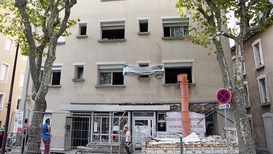 Les ouvriers sont à l'œuvre jusqu'au 15 septembre, pour la phase de démolition.
