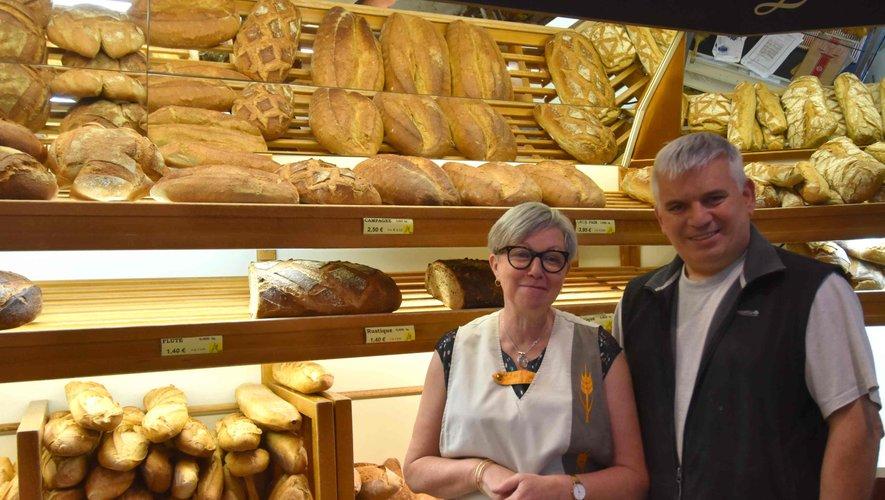 Les boulangers, Denise et Daniel Anglade.