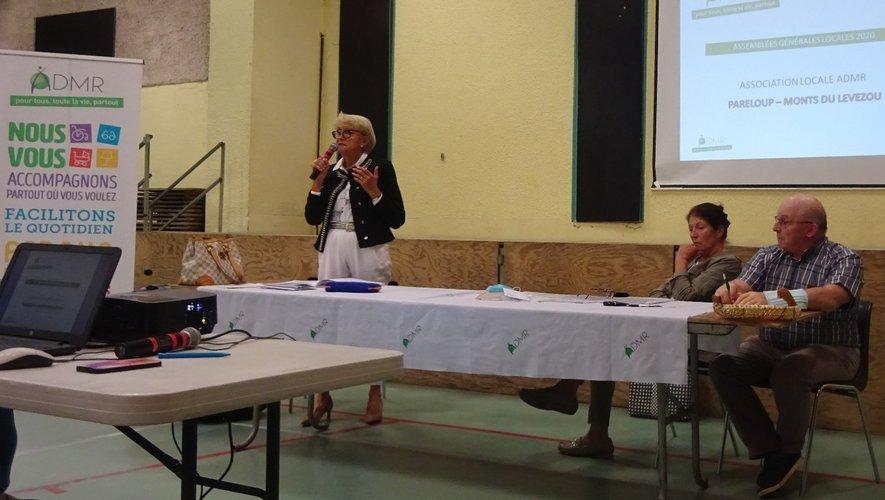 Monique Caussignac, présidente de l'ADMR a ouvert l'assemblée générale de l'association.
