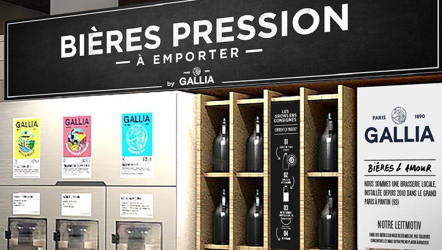 Le nouveau magasin Monoprix de Montparnasse, à Paris, propose de la bière en vrac et instaure un système de bouteilles consignées
