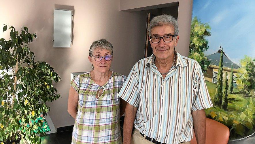 André Vié, président, et Christiane Viguié, vice-présidente du conseil d'administration de l'Ehpad.