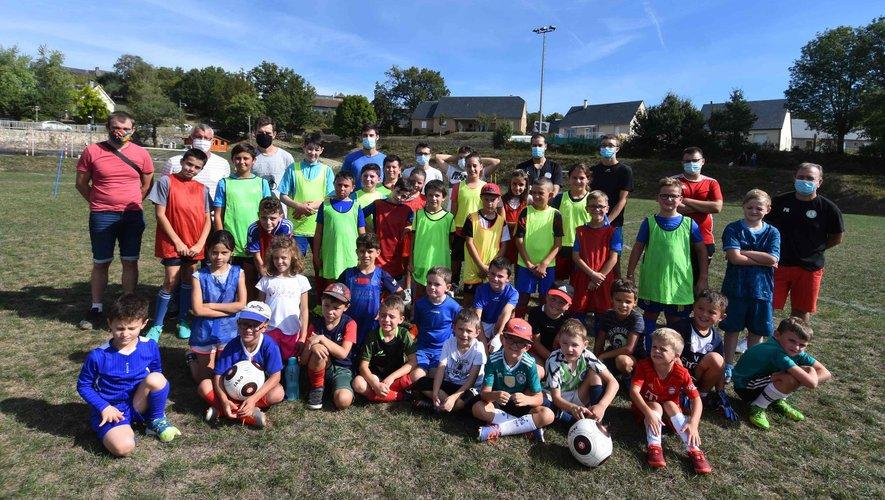 L'école de foot de l'AS Saint-Geniez.