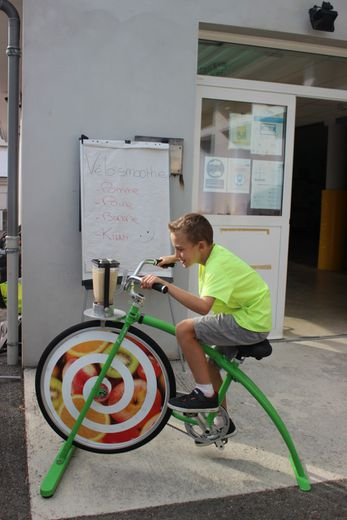 Le vélo-smoothie : pédalez, mixez et buvez un délicieux smoothie !