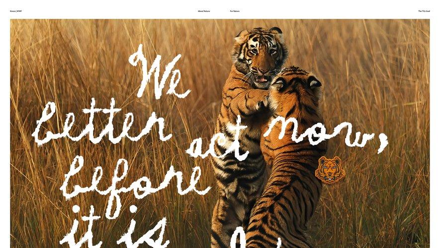 Kenzo s'engage pour la préservation des tigres sauvages avec WWF.