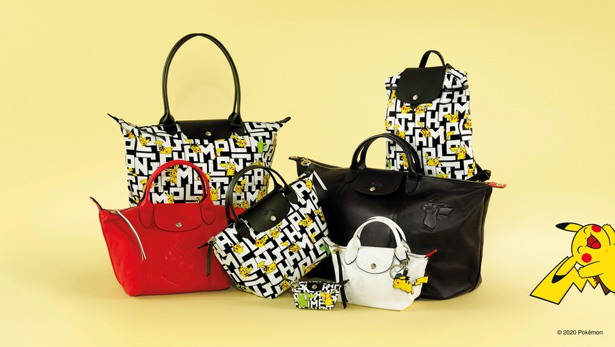La collection Longchamp x Pokémon met à l'honneur Pikachu.