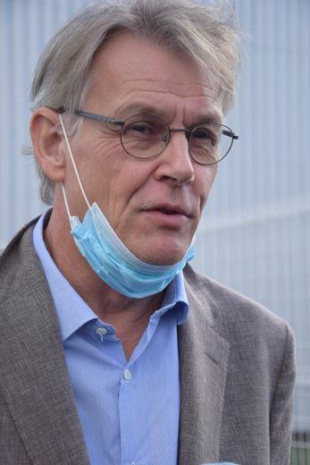 Dominique Bernard, directeur général du groupe Arcadie à l'issue de la réunion avec les salariés.