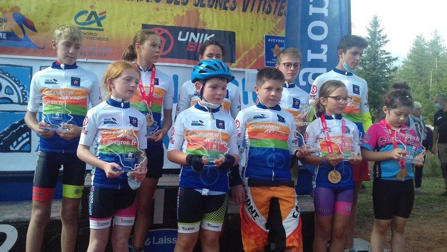 Les jeunes champions à l'issue de l'épreuve.