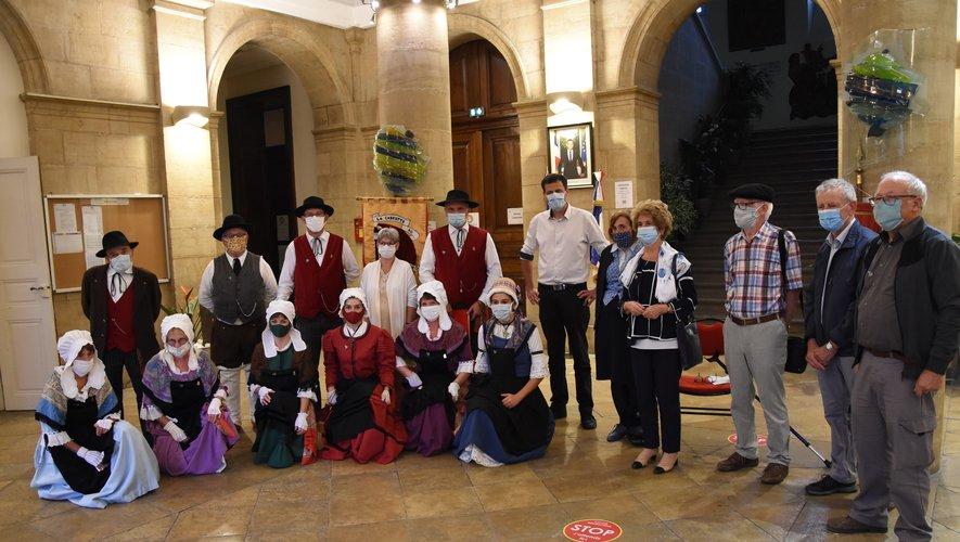 Ce vendredi soir, la culture occitane était à l'honneur dans le hall de la mairie.