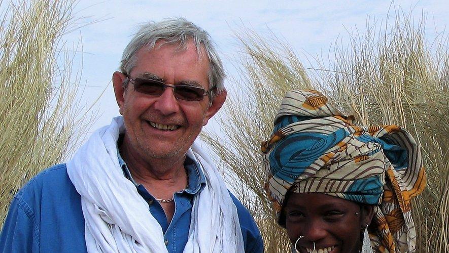 Serge Simon au cours d'un de ses voyages.