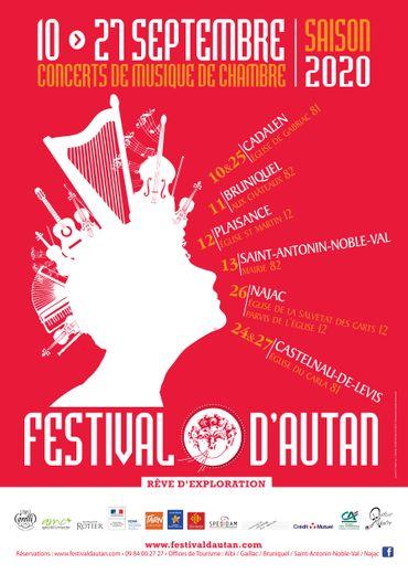 Un festival de musique  de chambre itinérant sur l'Aveyron et le Tarn.