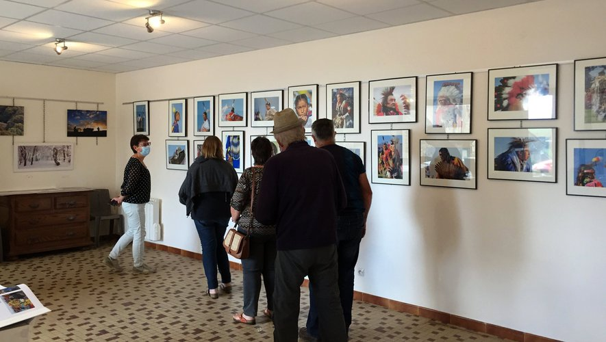 Visite de l'exposition photo aux journées du patrimoine