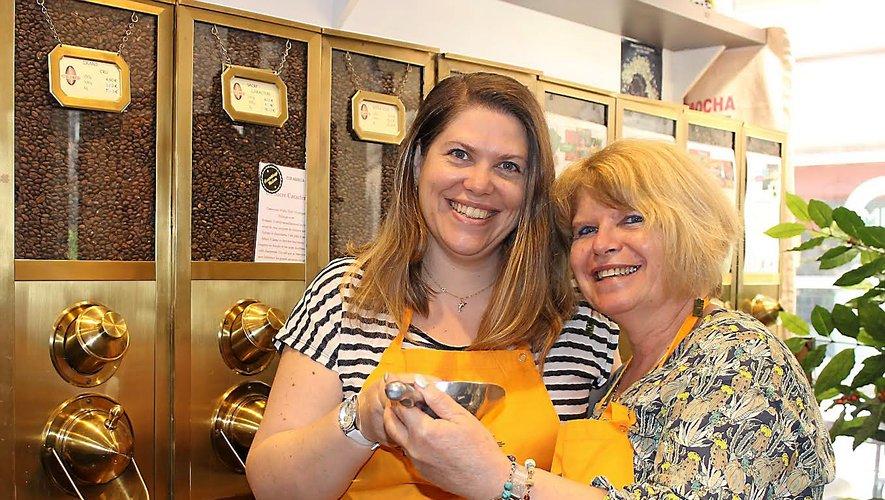 Marie-Christine Navarro et sa fille Caroline Frayssines sont à la tête du Café du Marché.