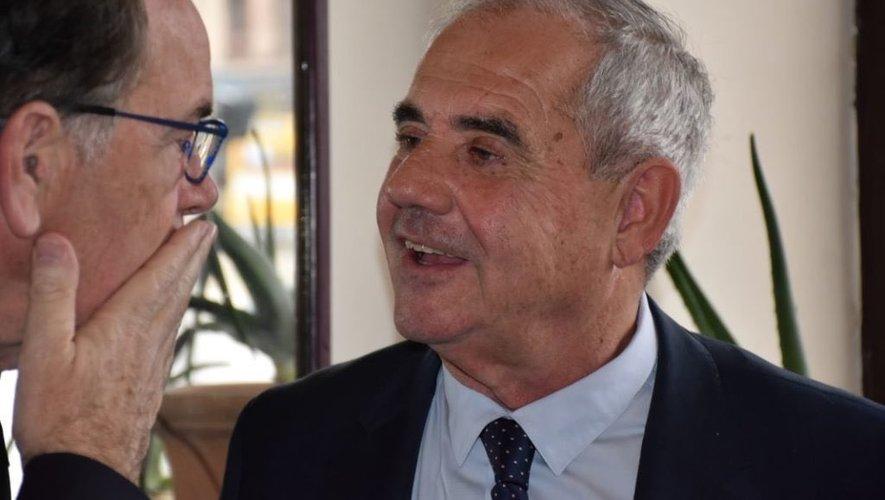 Francis Castan, ici aux côtés  de Christian Teyssèdre lors  de la campagne municipale.