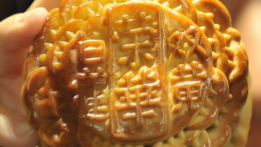 Voici un mooncake traditionnel