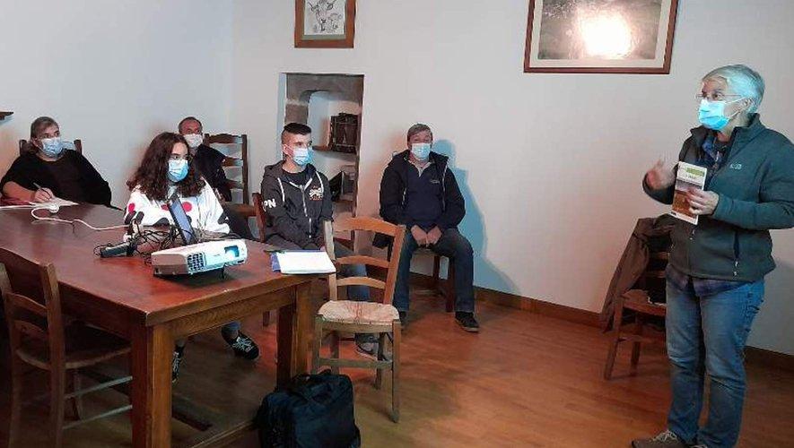 Lors de l'assemblée à Graissac.