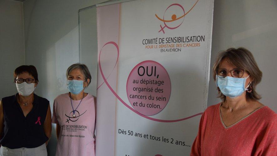 Le Dr Laurence Michelutti (à gauche), aux côtés Marie-Claude Serres et de Marie Rouget.