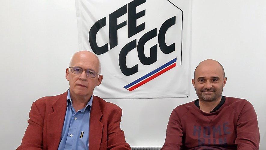 JacquesDouziech et Pascal Raffanel, de la CFE-CGC