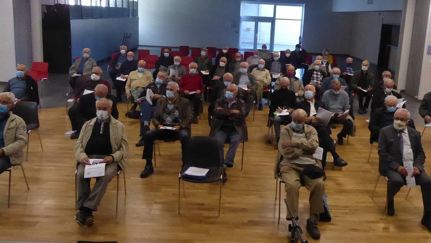 Les participants à cette assemblée générale départementale de la Fnaca  à La Primaube.
