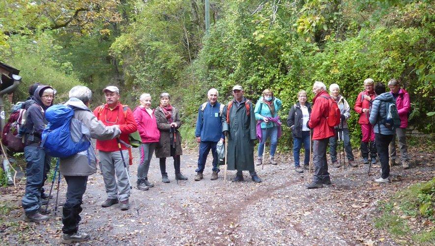 Les participants à cette escapade en Lozère.