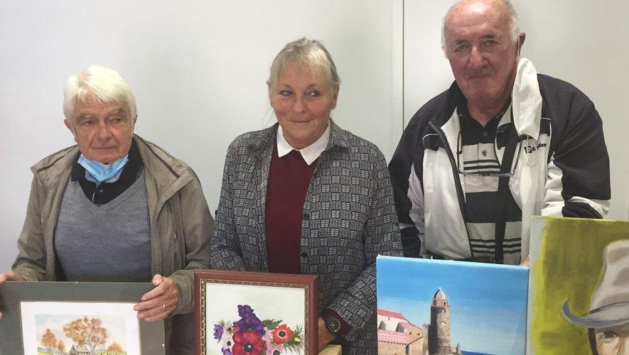 Ces trois artistes locaux vont exposer leurs oeuvres dans la salle de la médiathèque.
