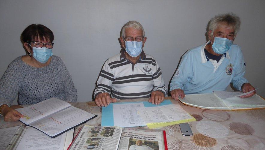 Élysée Viguié (au centre) a présidé une assemblée générale réduite, compte tenu du contexte sanitaire.