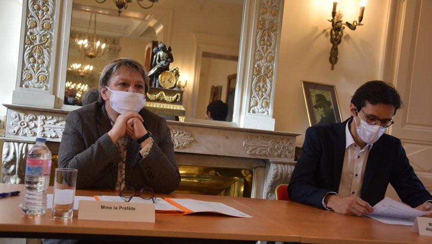 Valérie Michel-Moreaux, préfète, et Benjamin Arnal, délégué départemental de l'ARS ont fait le point ce lundi.