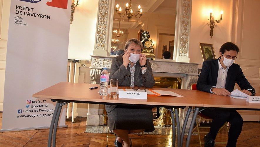 La préfète Valérie Michel-Moreaux a souligné lundi lors de la présentation des nouvelles mesures sanitaires, que le port du masque est suivi en Aveyron.