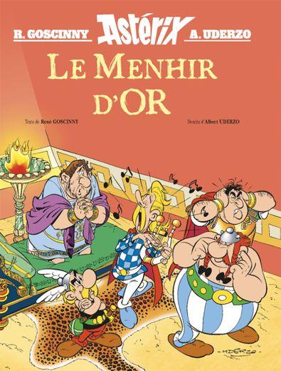 """""""Le Menhir d'Or"""" par Goscinny et Albert Uderzo : Sur un scénario de René Goscinny, """"Le Menhir d'or"""" raconte le parcours d'Assurancetourix - le villageois qu'on fait taire à tous les banquets tellement il chante mal."""