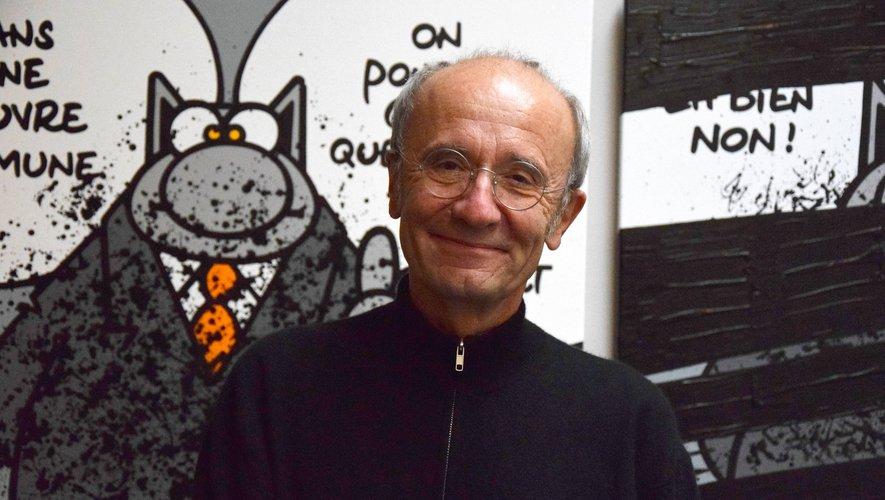 Une trentaine de dessins et tableaux du Chat côtoient les œuvres de Soulages.