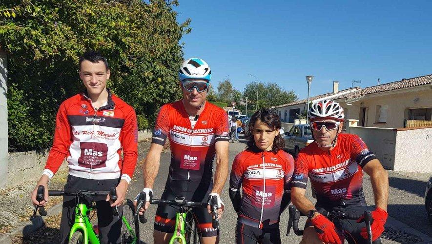 Les coureurs du Guidon présents à Castelsarrasin.