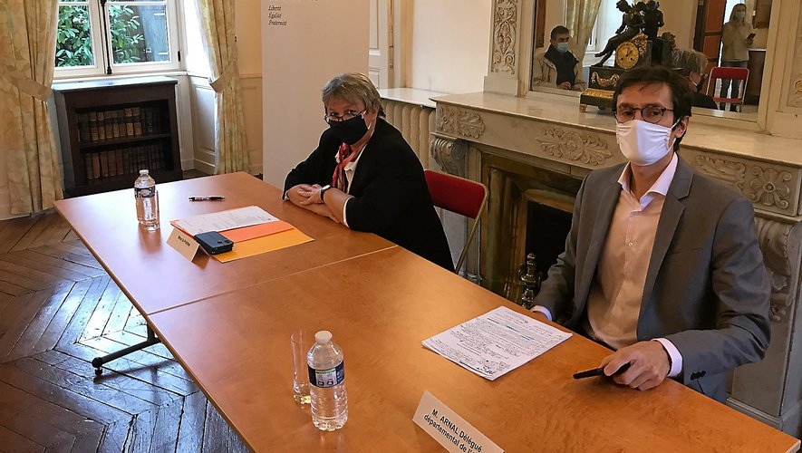 Valérie-Michel-Moreaux, préfète, et Benjamin Arnal, ARS, ont détaillé les mesures hier en préfecture.