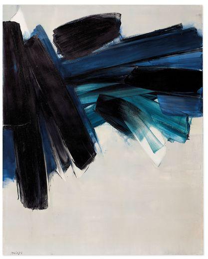 Un tableau réalisé en 1961 et exposé pour la première fois au public ces jours-ci...