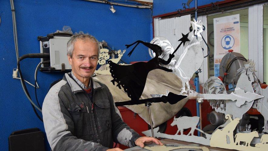 """Francis Christophe, sculpteur """"girouette"""""""