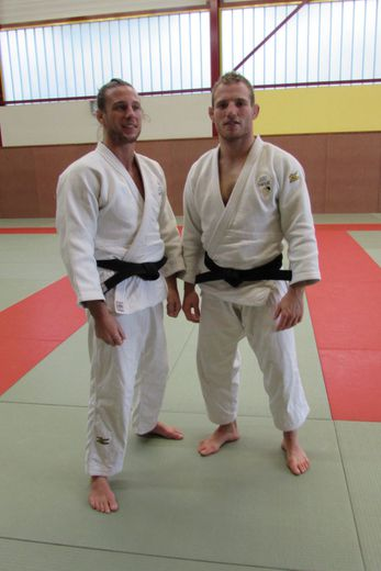 Arthur Clerget et Mathias Boucher les deux invités du Judo Villefranche.
