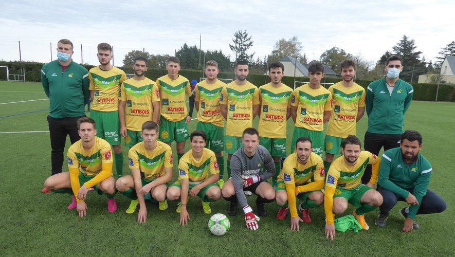 L'équipe II de LPFC avant le coup d'envoi contre Albi.