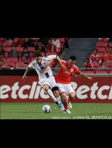 De beaux souvenirs pour Mickaël Firmin avec le Téfécé comme, par exemple, ce match contre le Benfica à Lisbonne.